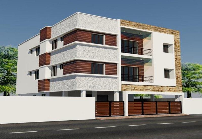 Vilvam Apartments in Valasaravakkam - Elevation by Green Leaves